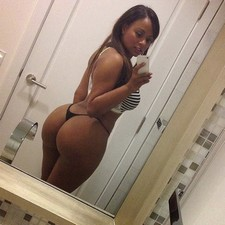 Sexy selfshot of hot amateur ebony with big sexy ass and real sweet tits