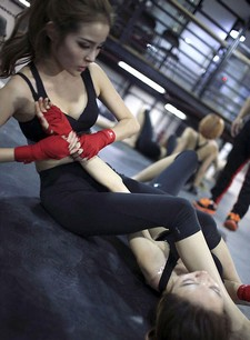 It is reported that last month six Chinese beauties started their training in a..