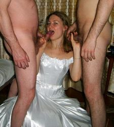 Real husbands don't mind sharing their brides on the wedding night ;) the more the..