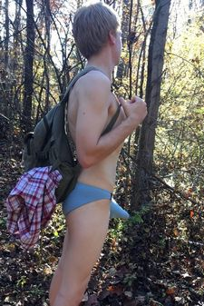 College guy outdoors.