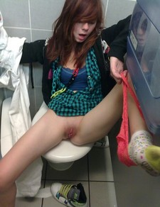 Slutty Teen On Toilet.