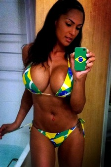 Hot brasilian selfie in bikini