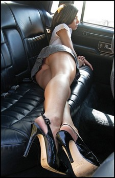 Backseat tease, perfect young ass