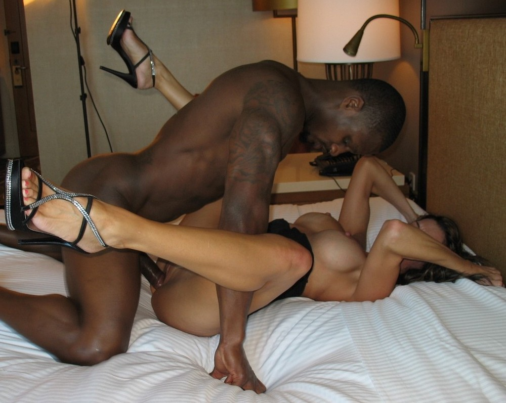 Hot sweaty interracial sex